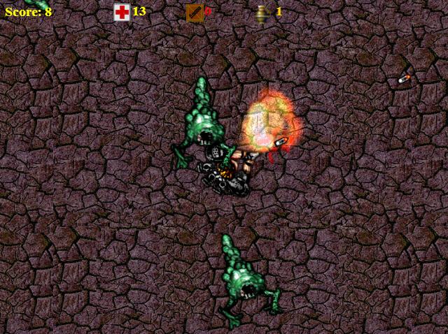 Screenshot taken from Aliens!