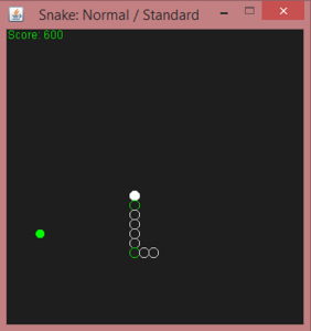 Screenshot from Snake