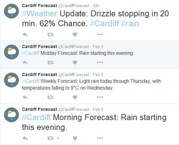 Cardiff Weather Twitter